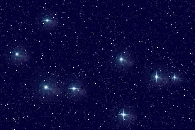 svítící hvězdy