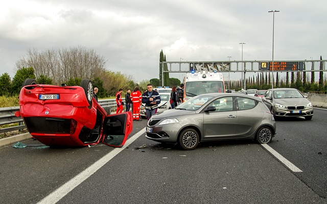 auto nehoda na dálnici